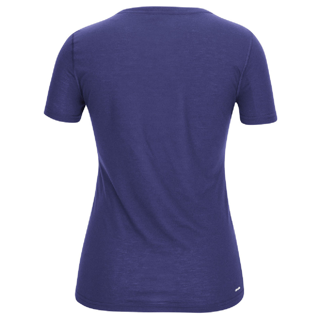 adidas Women's Purple Climalite Ultimate Short Sleeve Tee