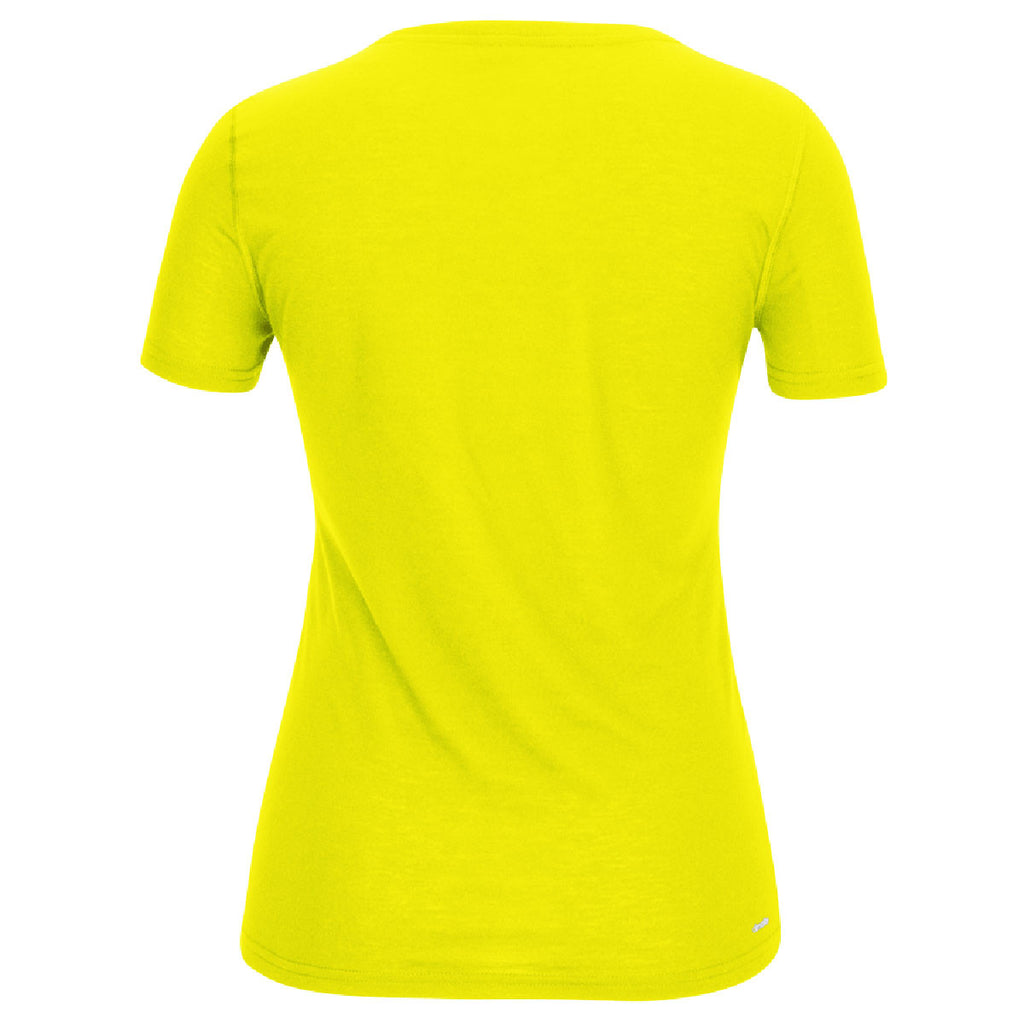adidas Women's Yellow Climalite Ultimate Short Sleeve Tee