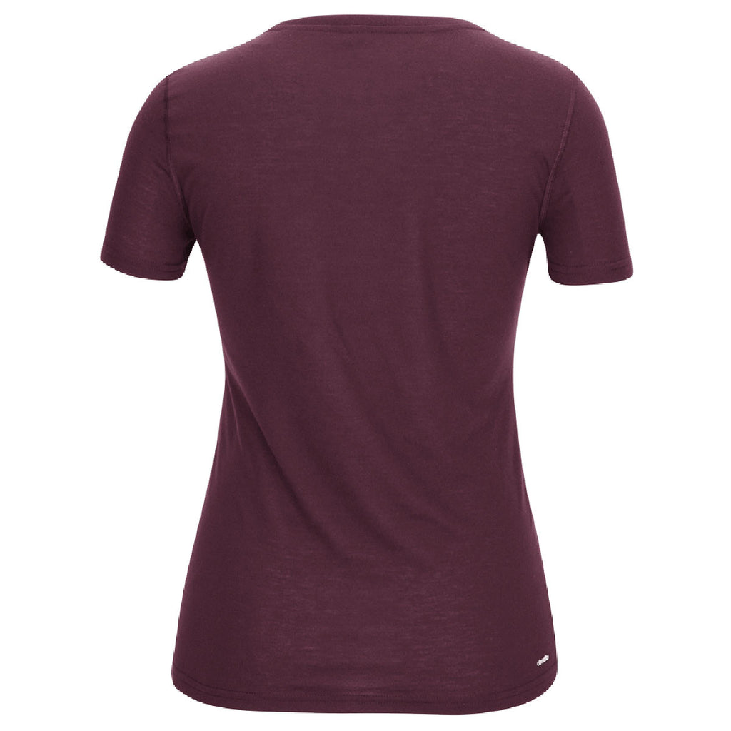 adidas Women's Climalite Ultimate Maroon Short Sleeve Tee