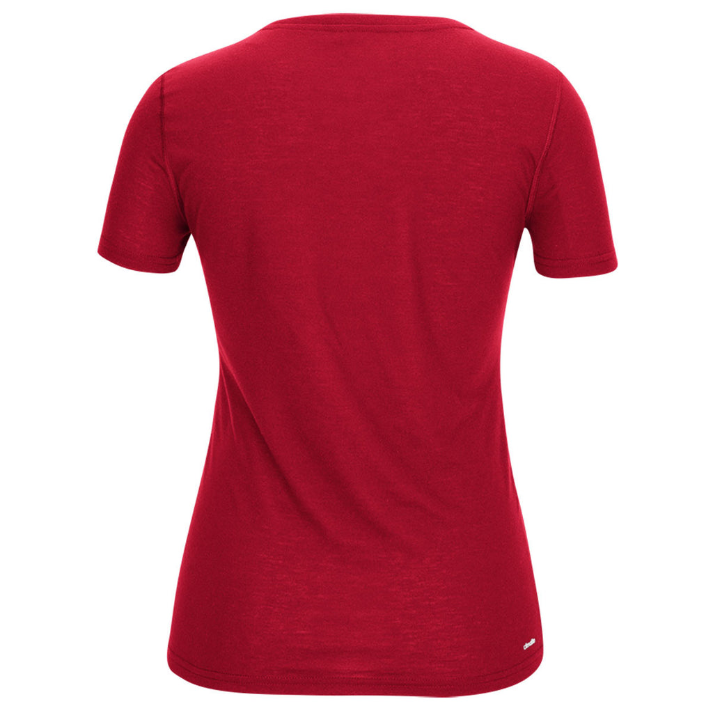 adidas Women's Red Climalite Ultimate Short Sleeve Tee