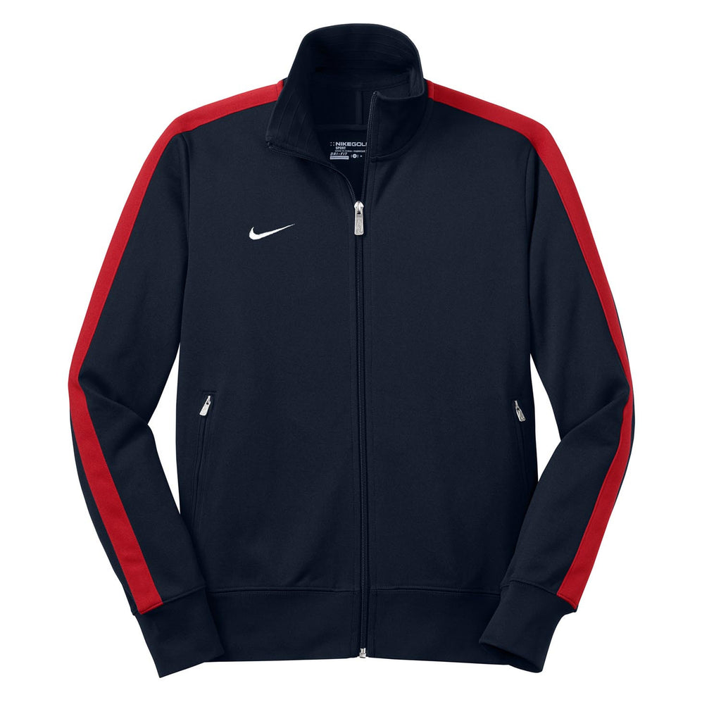 Nike Men s Navy Red N98 Track Jacket. ADD YOUR LOGO 6a70ff07b