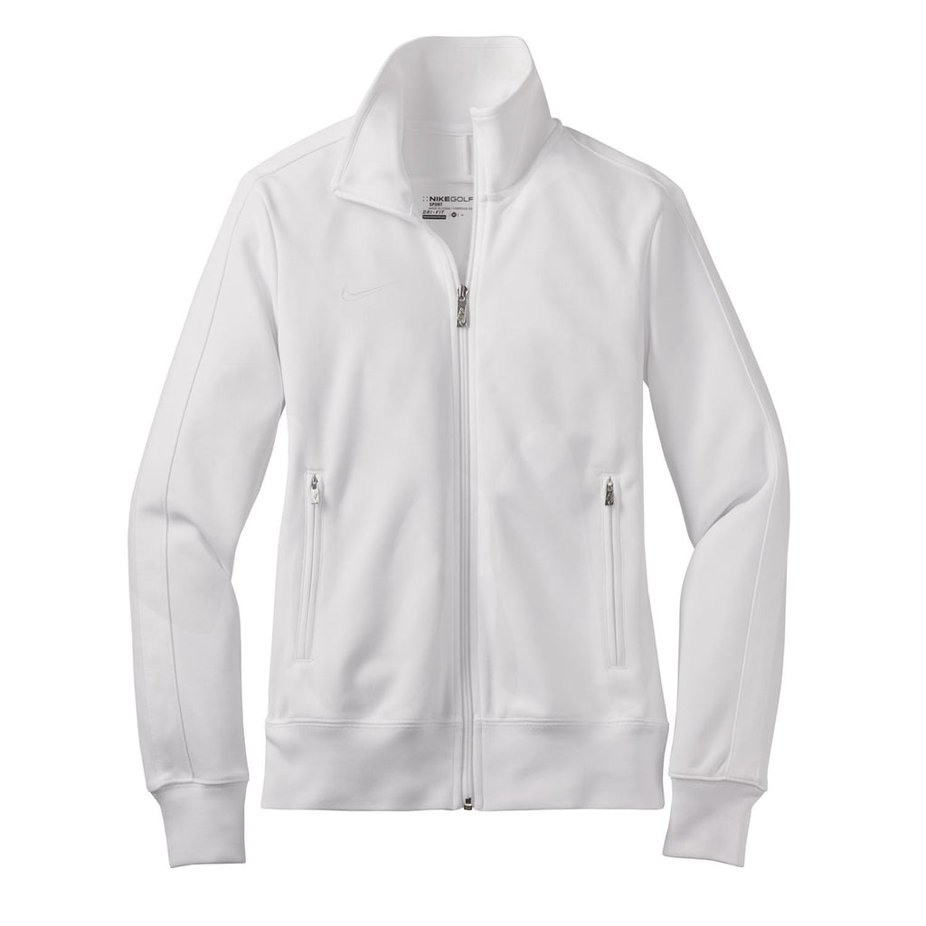 fc16622ece96 Nike Women s White N98 Track Jacket. ADD YOUR LOGO