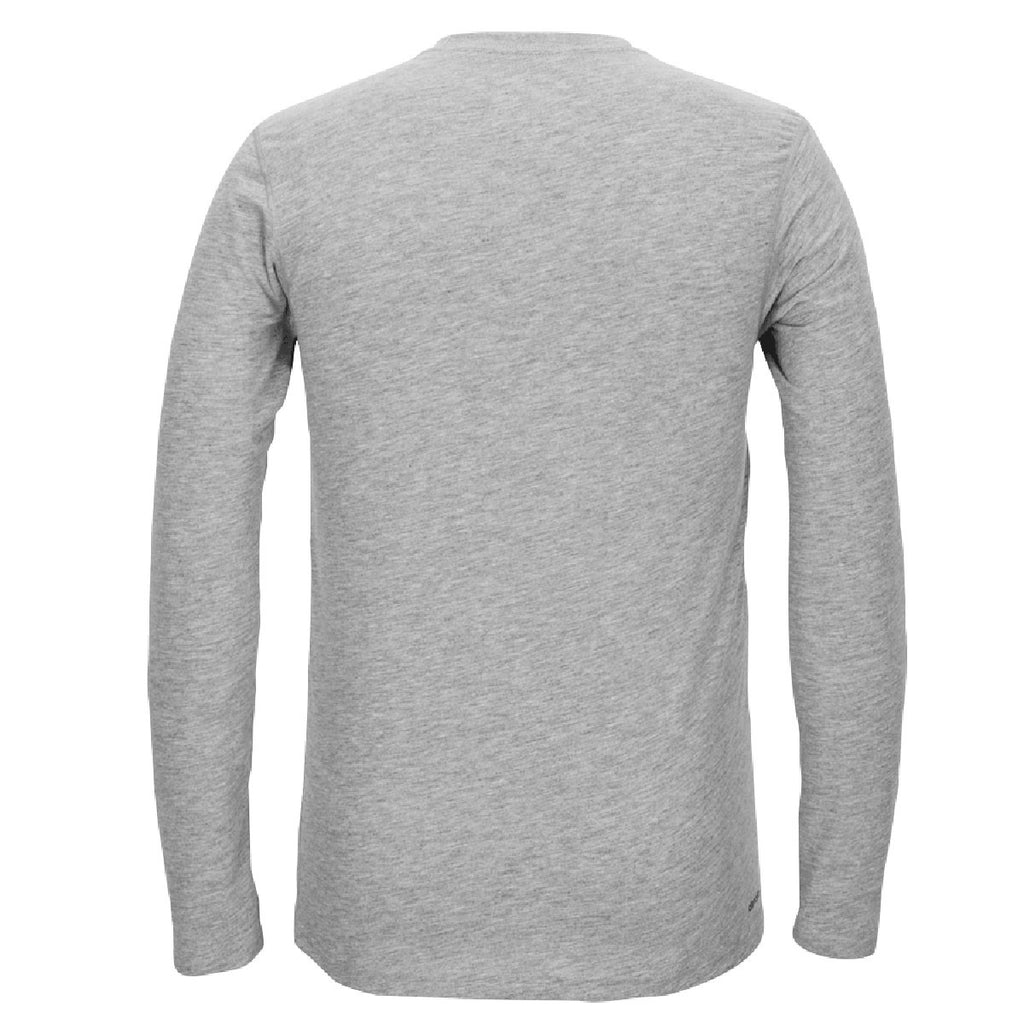 adidas Men's Heather Grey Climalite Ultimate Long Sleeve Tee