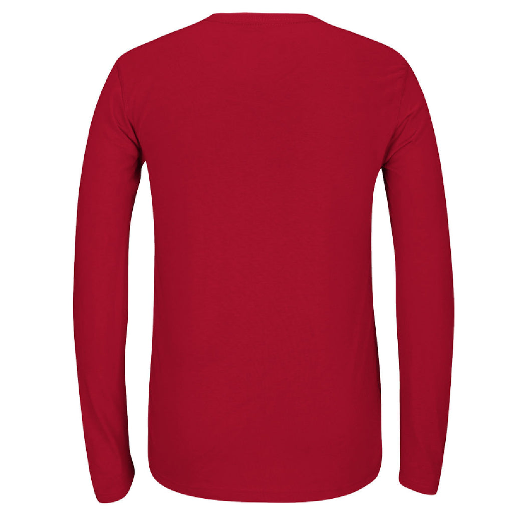 adidas Men's Red Climalite Ultimate Long Sleeve Tee