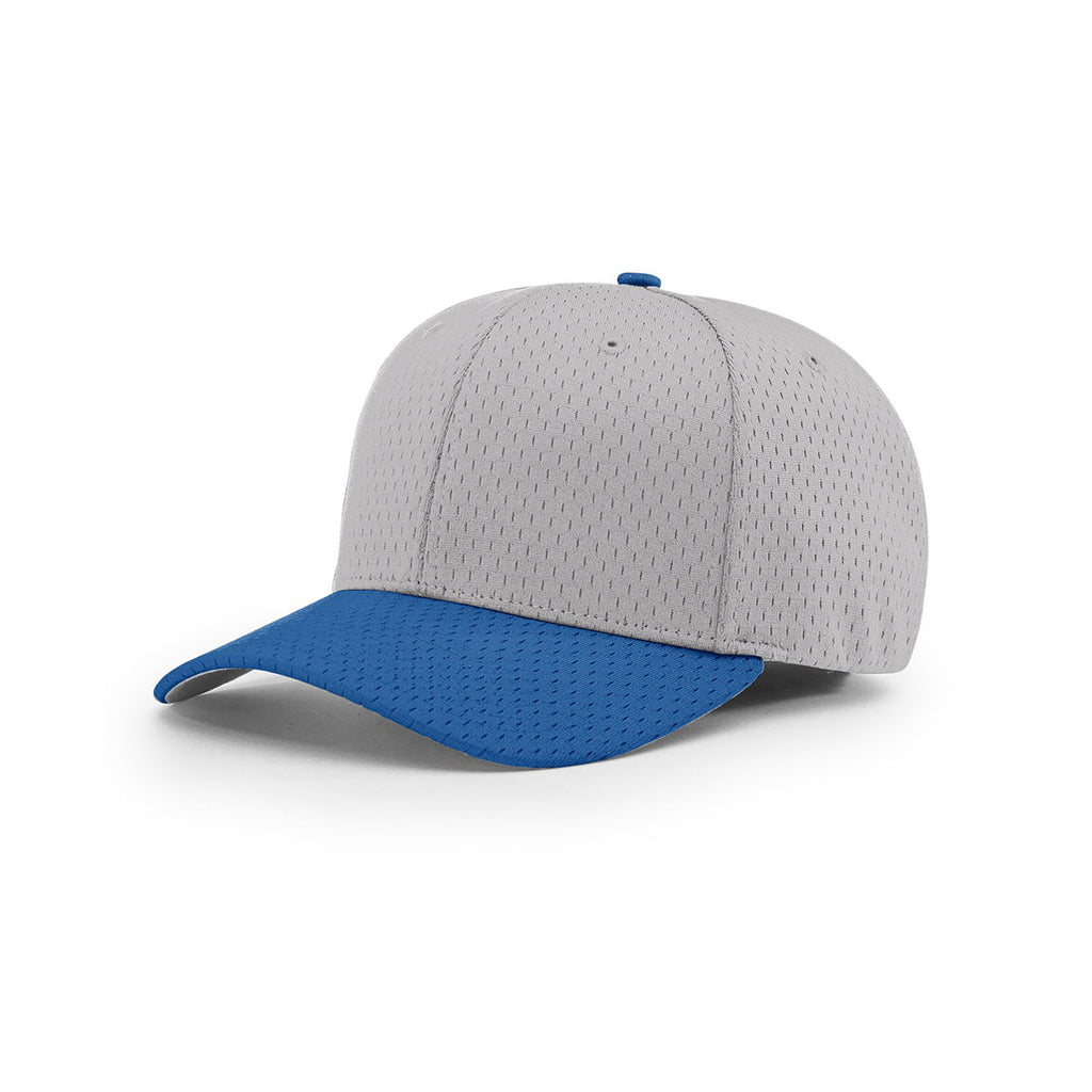 16703779a28ffe Richardson Grey/Royal On-Field Combination Pro Mesh R-Flex Cap