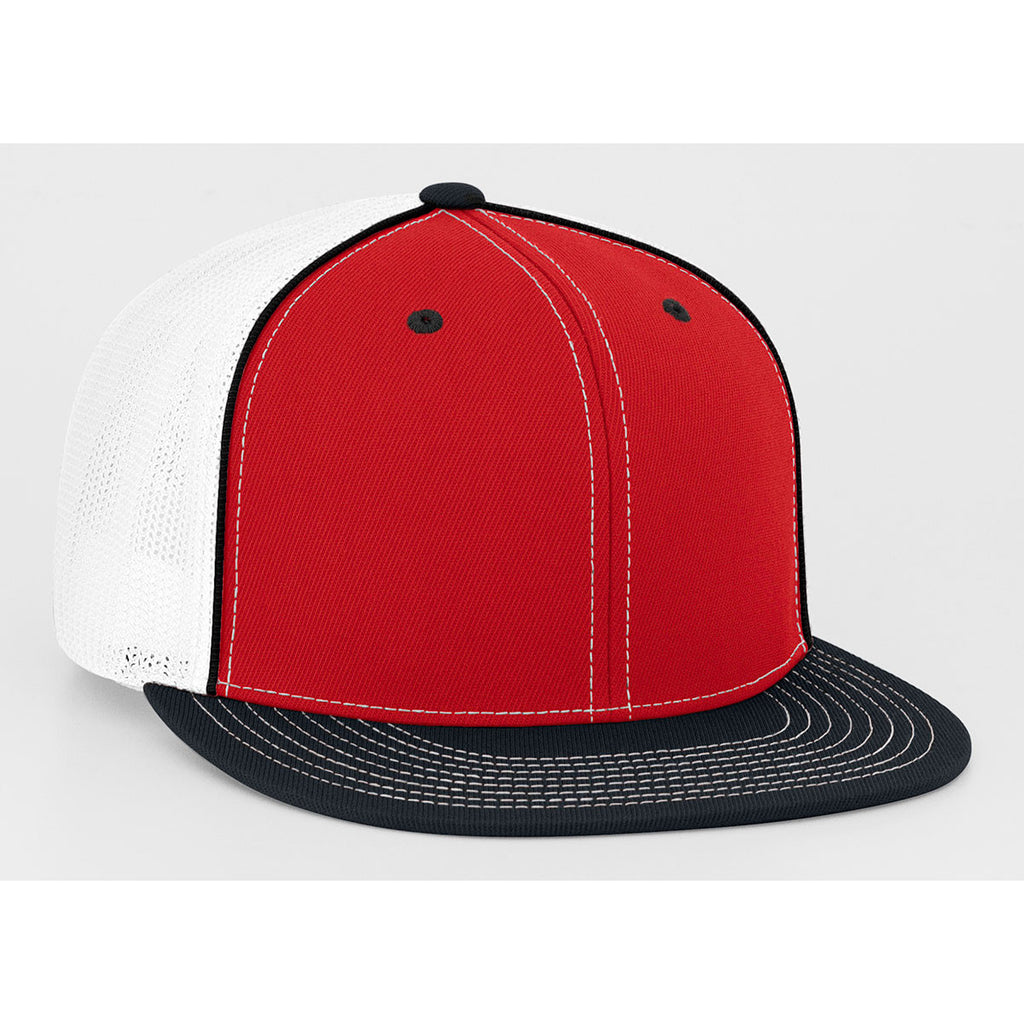 Pacific Headwear Red Black D-Series Fitted Trucker Mesh Cap 0c1bfe2945d