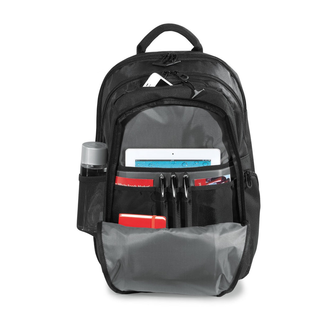 Life in Motion Black Alloy Computer Backpack