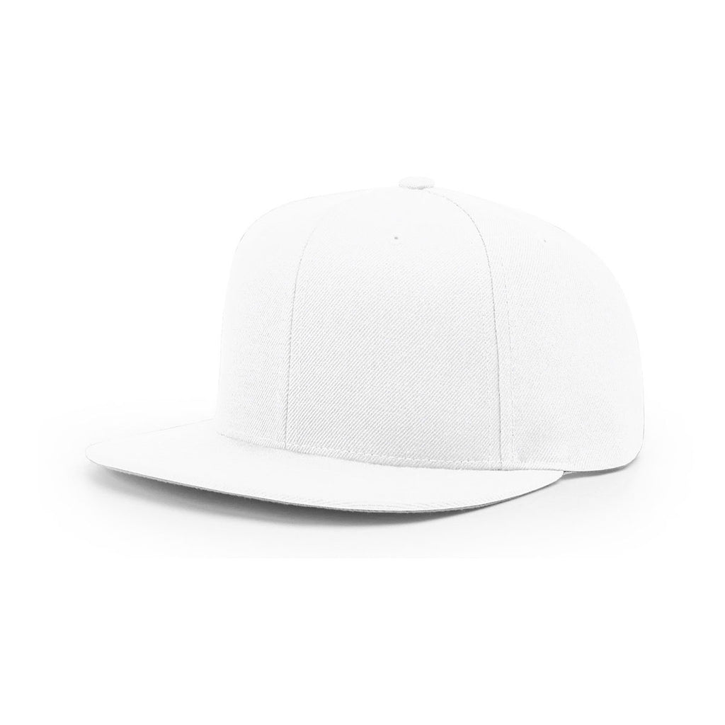 64356038d4528 Richardson White Lifestyle Structured Solid Wool Flatbill Snapback Cap