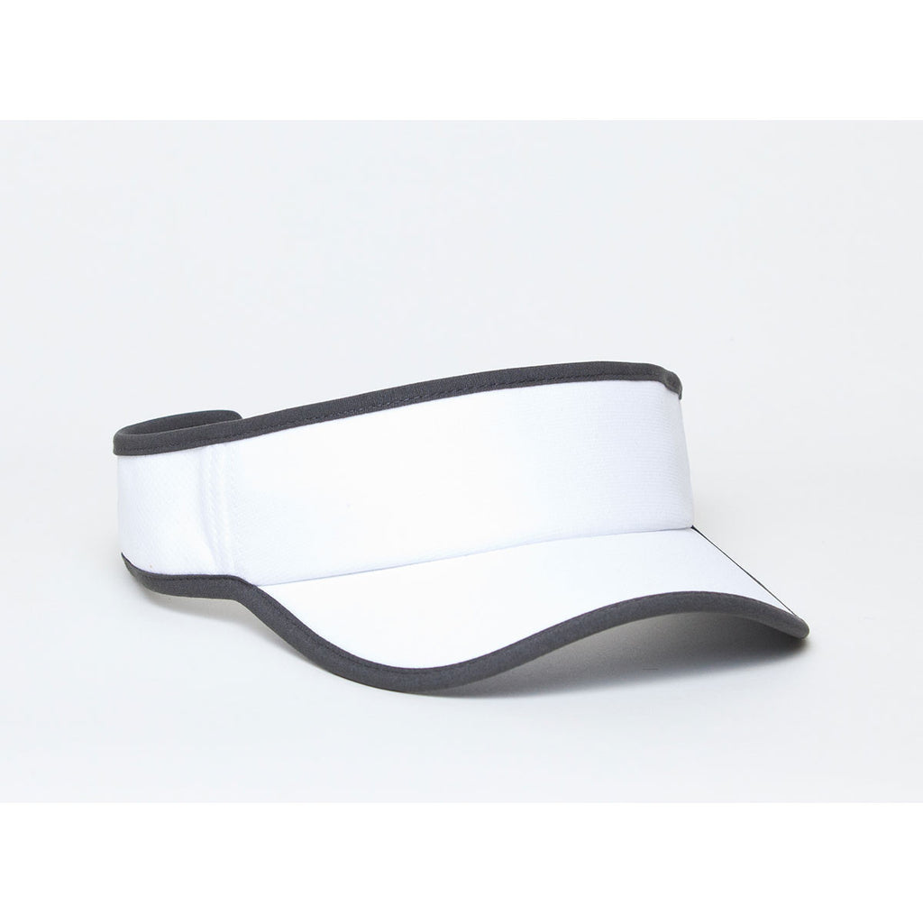 d2e2c2ab93c Pacific Headwear White Graphite Lite Series All-Sport Active Visor
