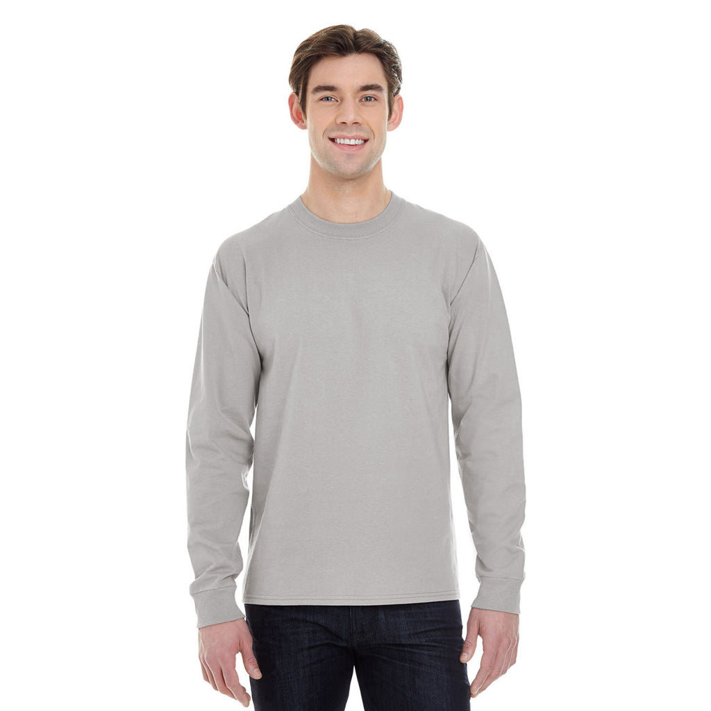 674d06f9 Hanes Men's Vintage Grey 6.1 oz Long-Sleeve Beefy-T. ADD YOUR LOGO