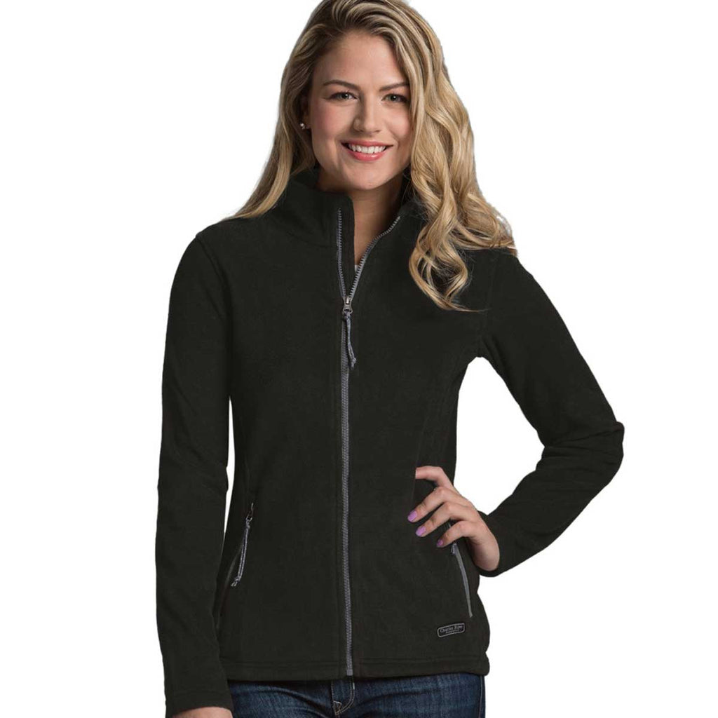 Charles River Women's Black Boundary Fleece Jacket