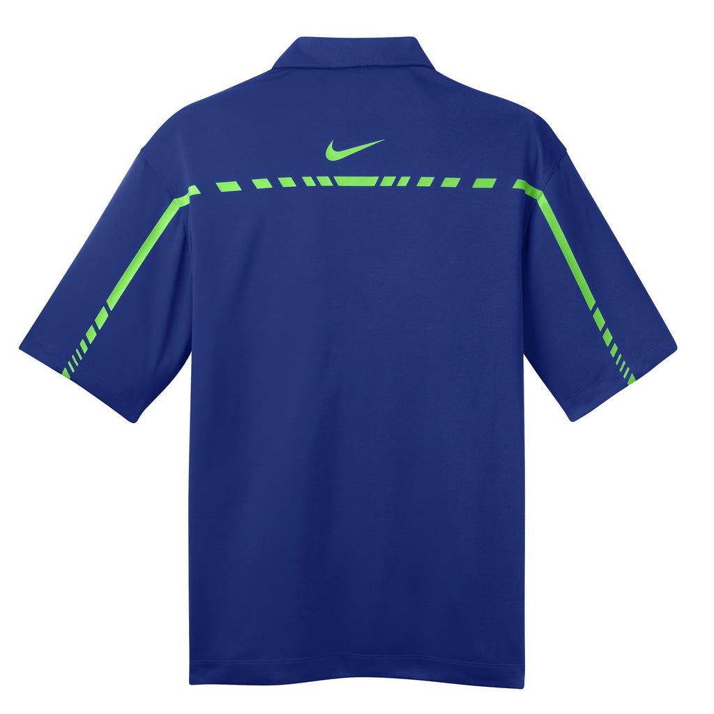 Nike Men's Blue Dri-FIT S/S Graphic Polo
