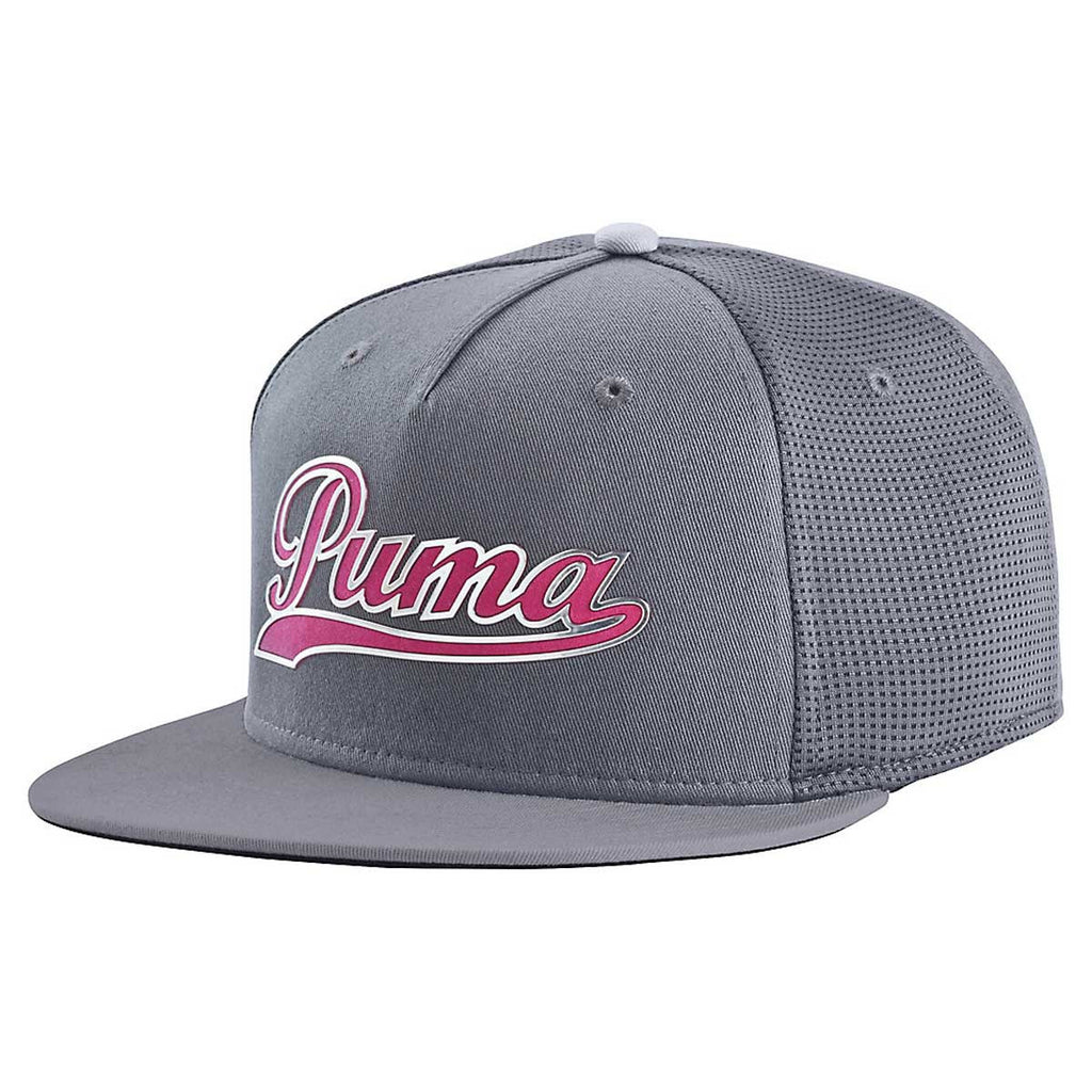Puma Golf Periscope Beetroot Purple Script Snapback Cap 06caf2af01c