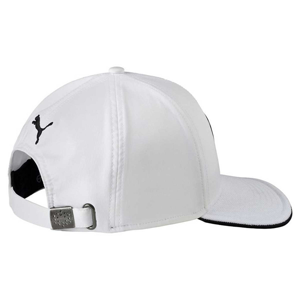 Puma Golf White/Black Cat Patch 2.0 Adjustable Cap