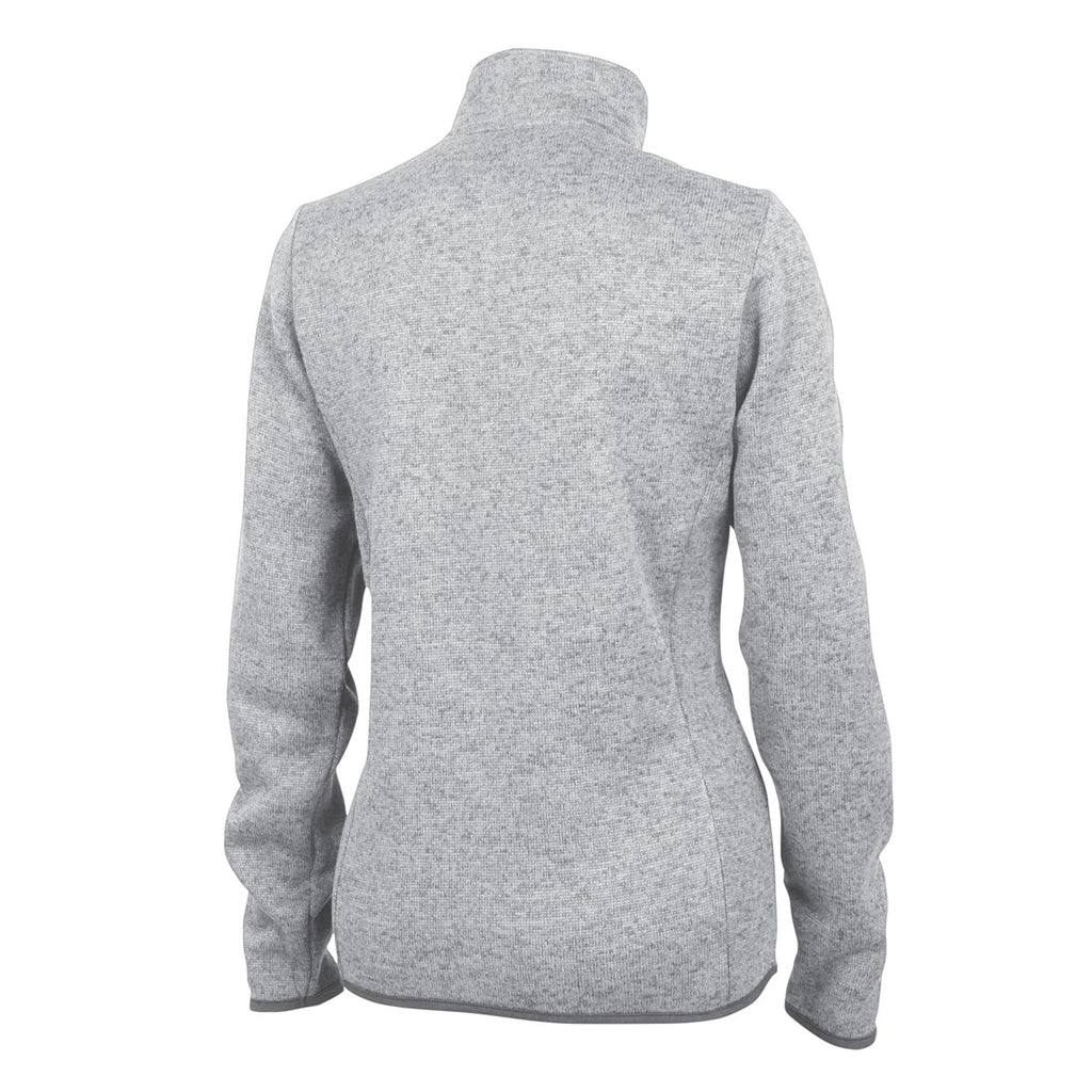 Charles River Women's Light Grey Heather Heathered Fleece Pullover