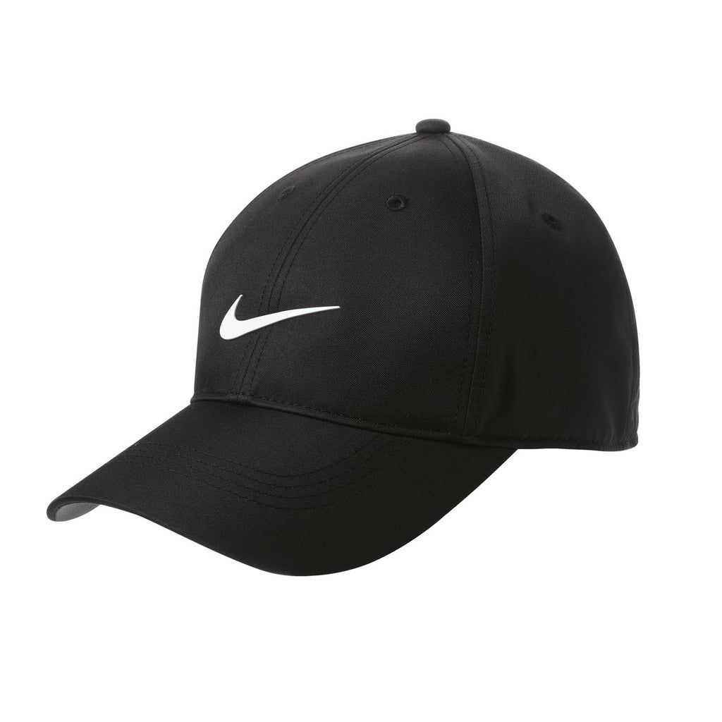 Custom Logo Nike Golf Black Dri-FIT Swoosh Front Cap  5c039baf226