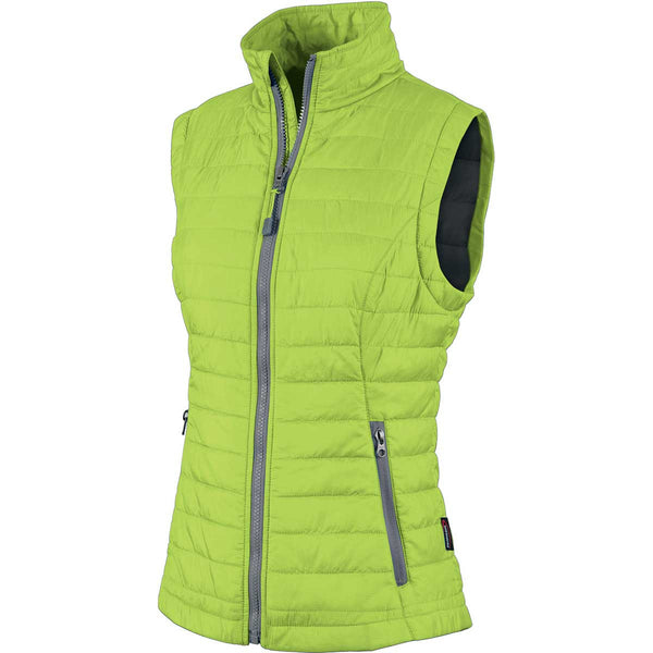 Charles River Women S Lime Grey Radius Quilted Vest