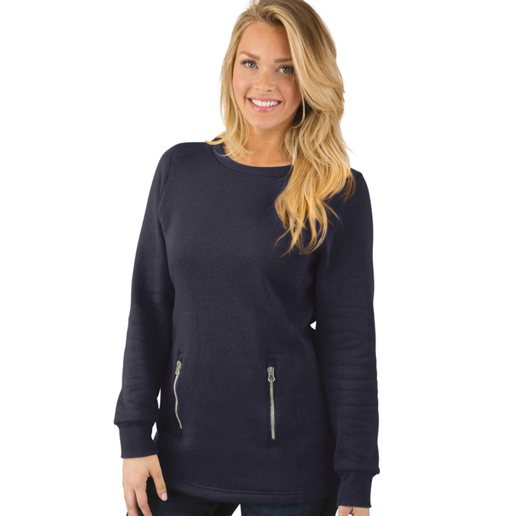 Charles River Women's Navy North Hampton Sweatshirt