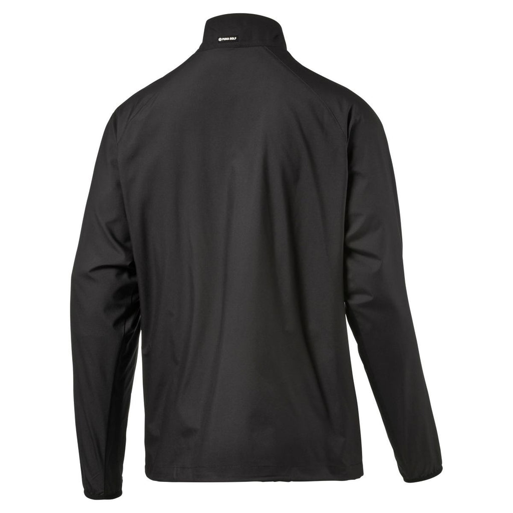 Puma Golf Men's Black 1/2 Zip Wind Golf Jacket