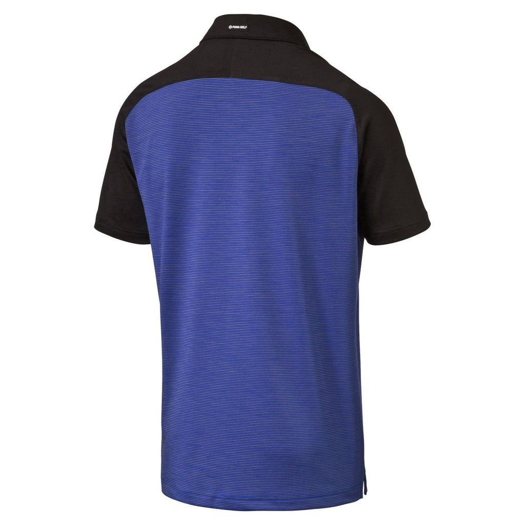 Puma Golf Men's Surf the Web S/S Tailored Saddle Golf Polo