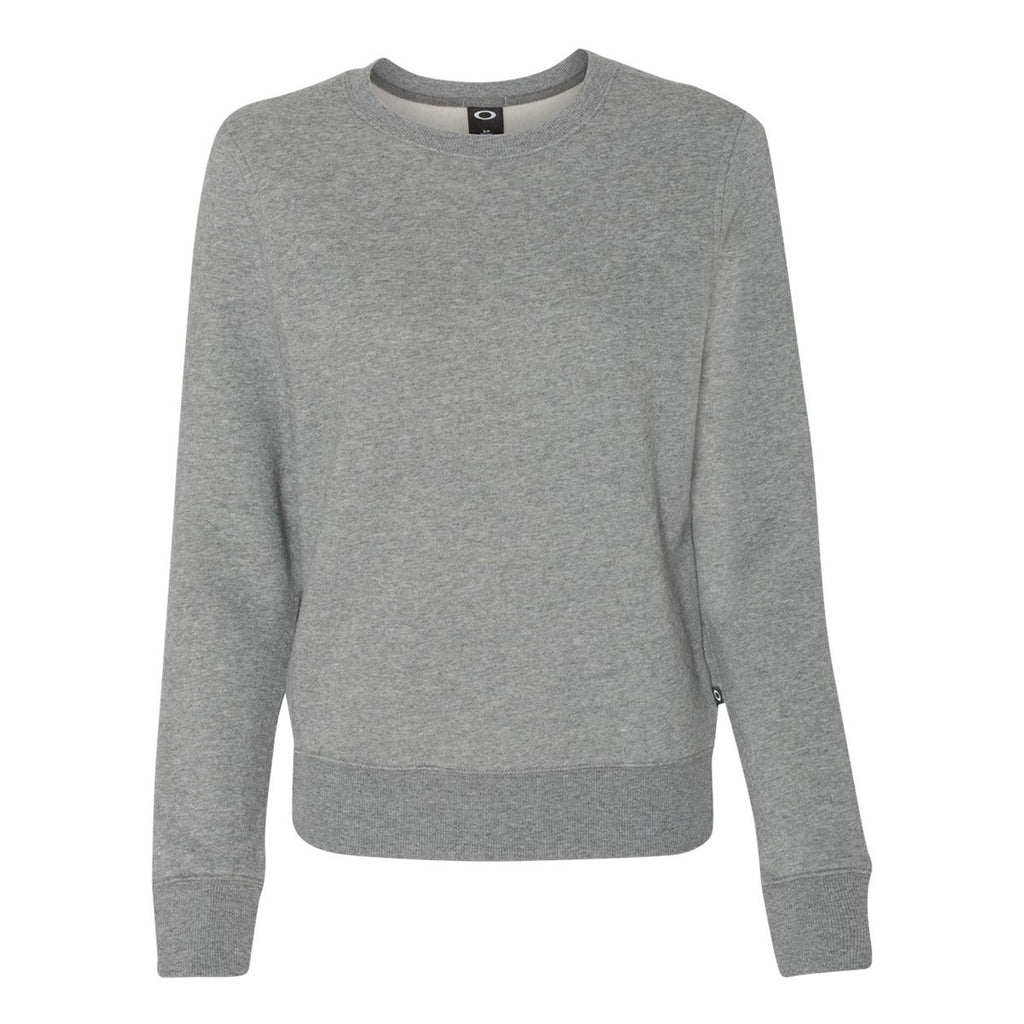 9cf3ebbfa Oakley Women's Heather Grey Cotton Blend Crewneck Sweatshirt