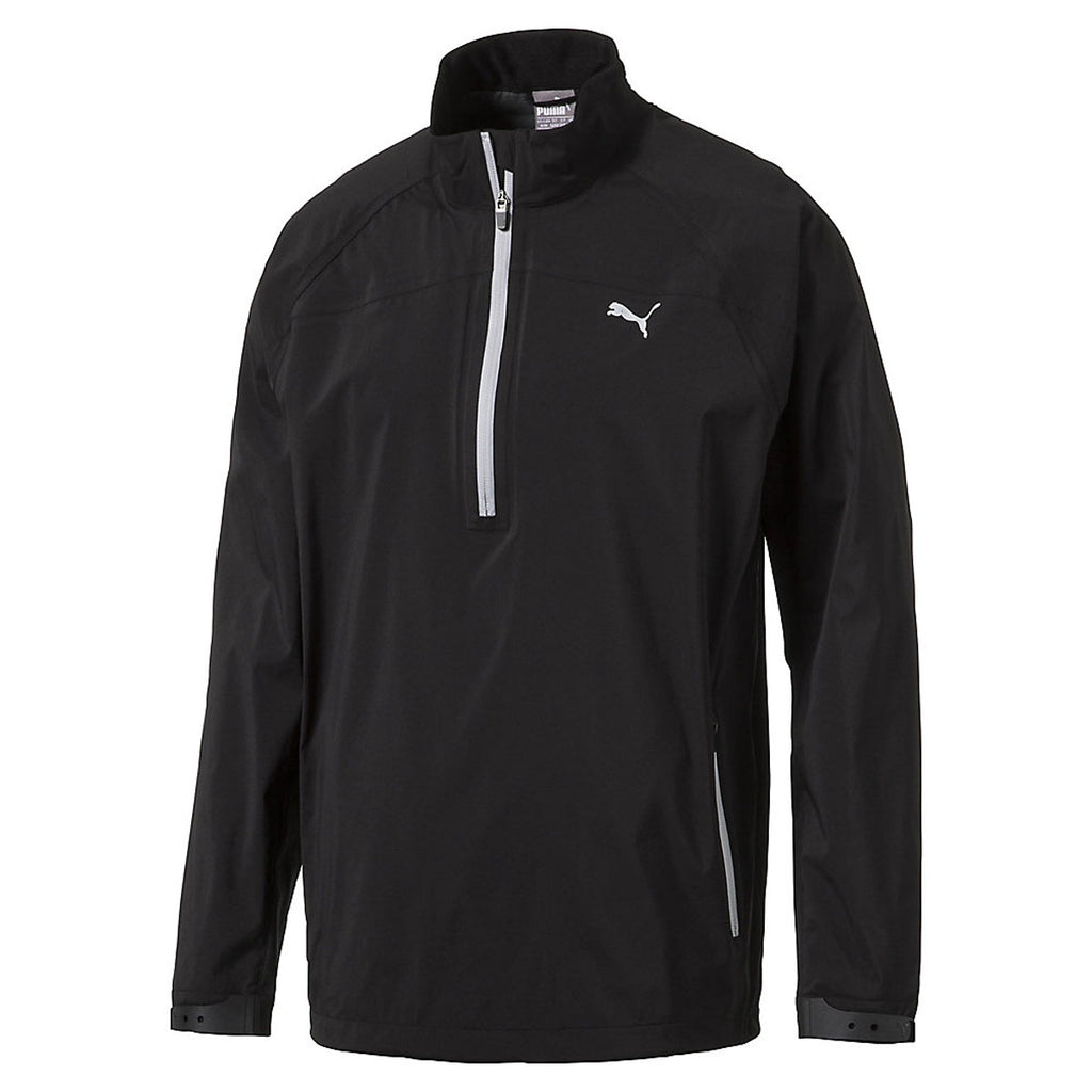 8e78b7364 Puma Golf Men's Puma Black Longsleeve Rain Golf Popover