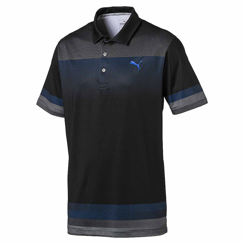 Puma golf men 39 s black untucked golf polo for Untucked shirts for sale