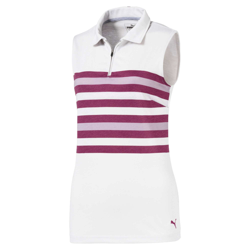 e2a8e58679a9 Puma Golf Women s Magenta Haze Sleeveless Road Map Polo
