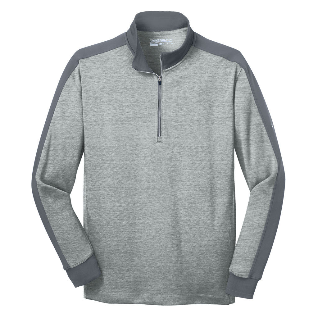 37c9cea1 Nike Men's Athletic Grey Heather/ Dark Grey Dri-FIT Long Sleeve Quarte