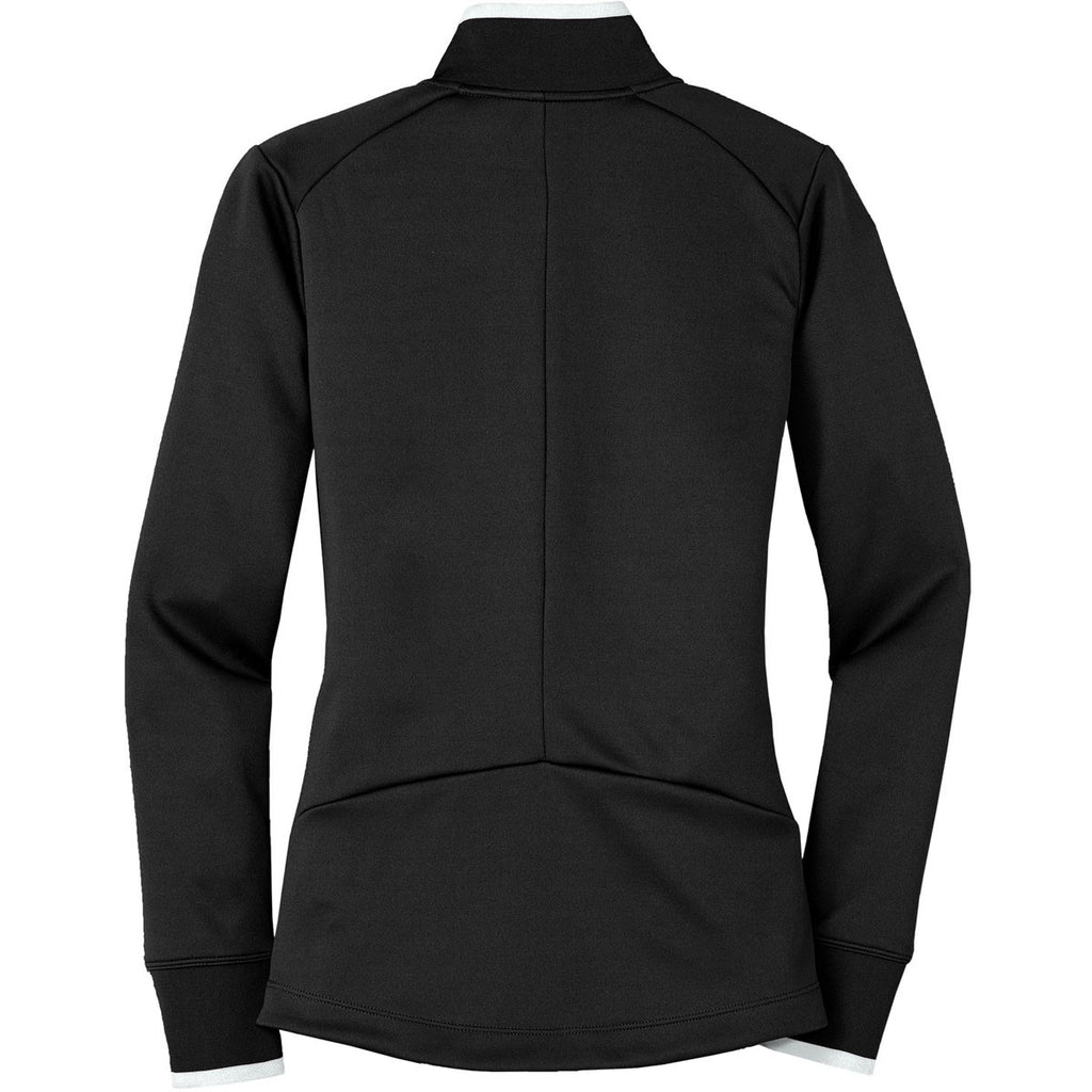 Nike Women's Black/White Dri-FIT L/S Quarter Zip Shirt