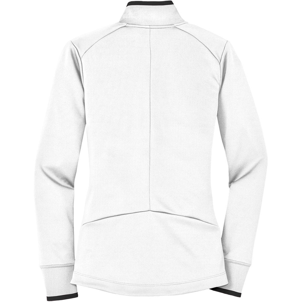 Nike Women's White Dri-FIT L/S Quarter Zip Shirt