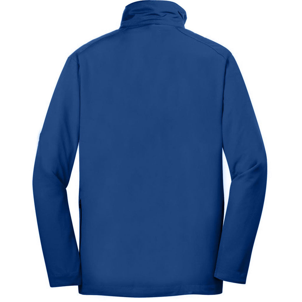 Nike Men's Blue Dri-FIT Long Sleeve Half Zip Wind Shirt