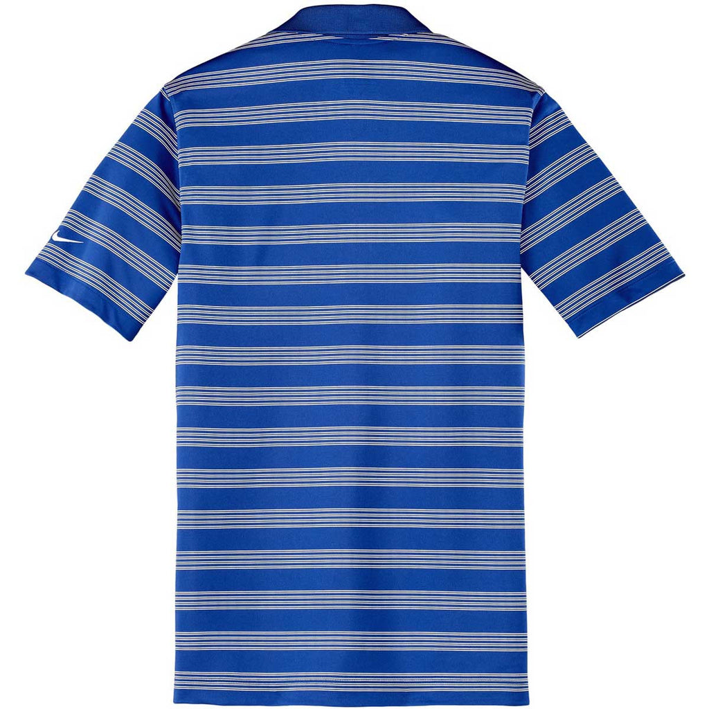 Nike Men's Royal Blue Dri-FIT S/S Tech Stripe Polo