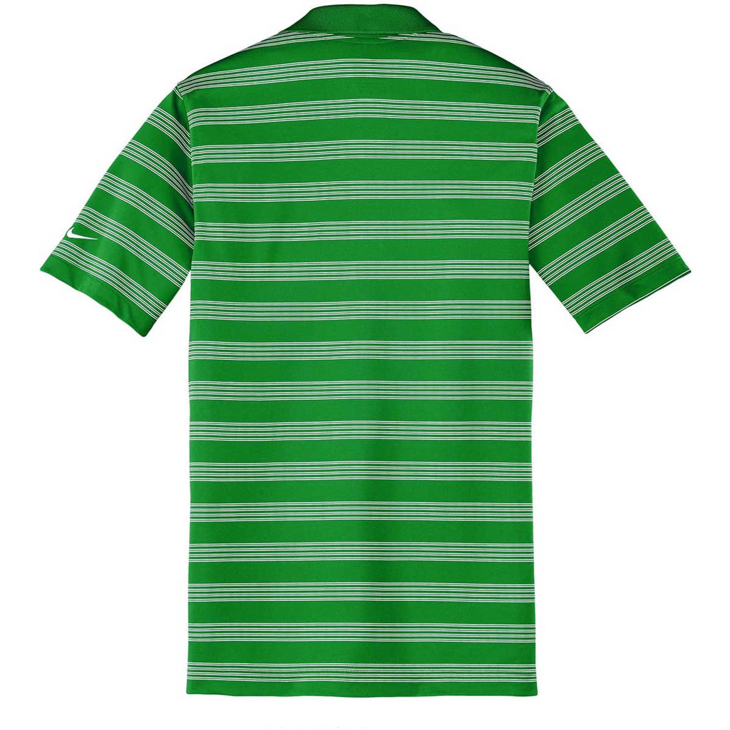 Nike Men's Green Dri-FIT S/S Tech Stripe Polo