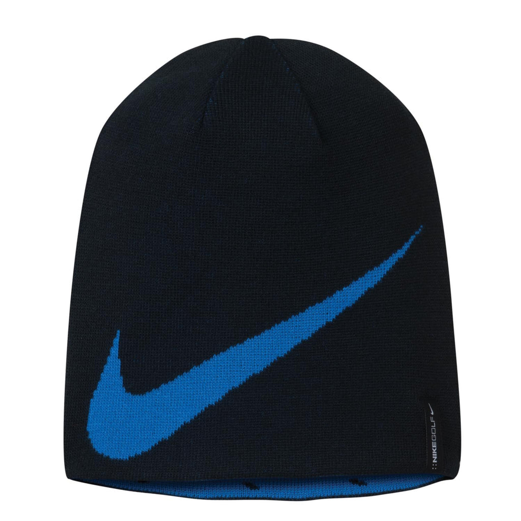 eab4183535538 Nike Golf Reversible Black Royal Blue Knit Hat