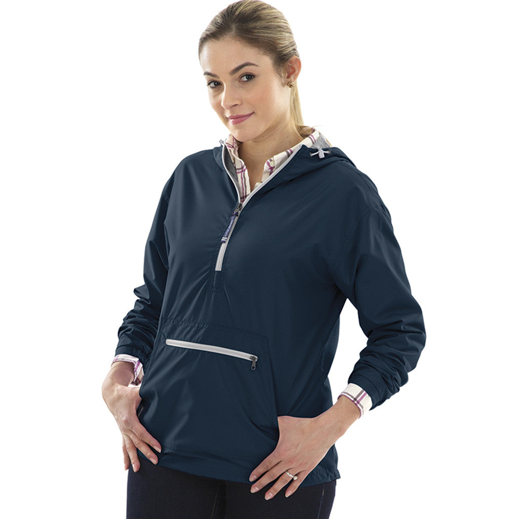 Charles River Women's Navy Chatham Anorak Solid