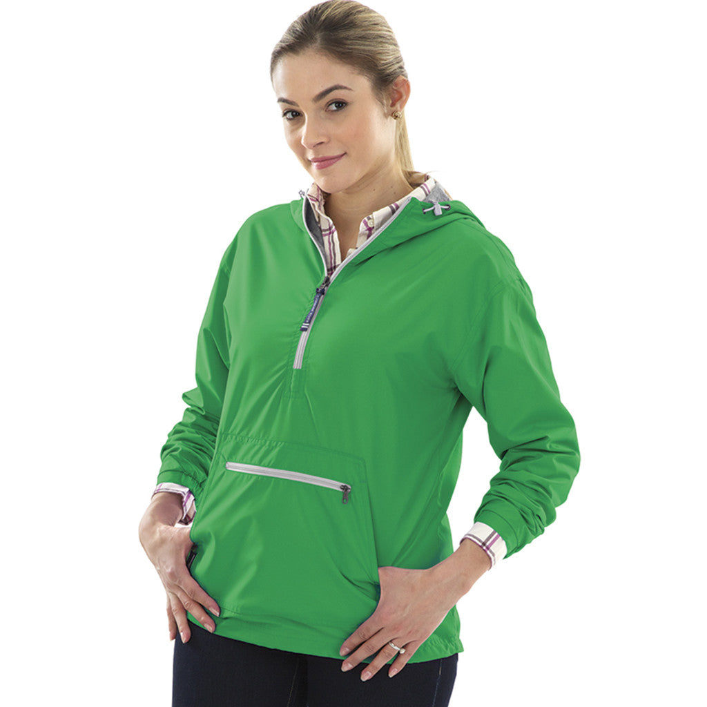 Charles River Women's Kelly Green Chatham Anorak Solid