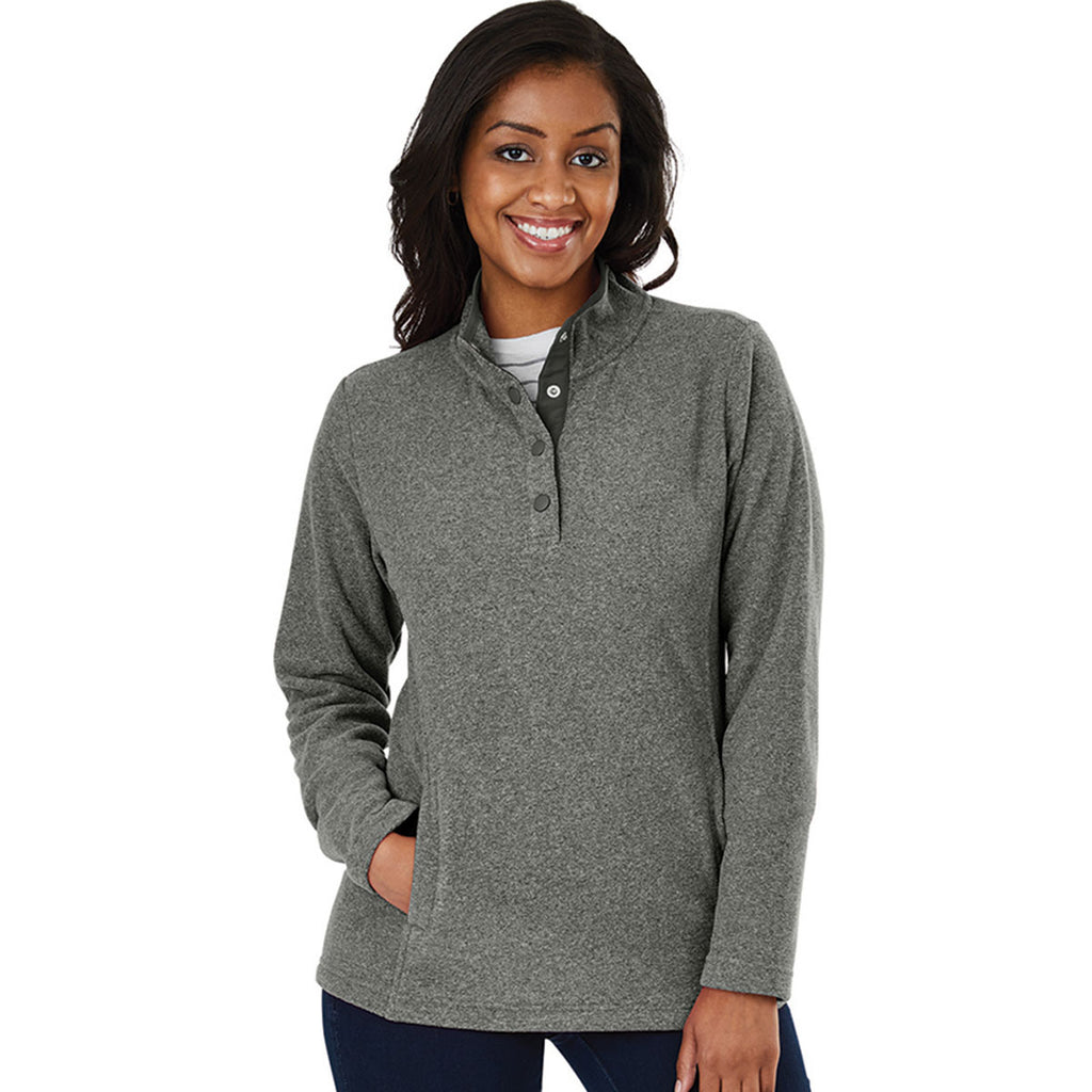 Charles River Women's Steel Heather Bayview Fleece