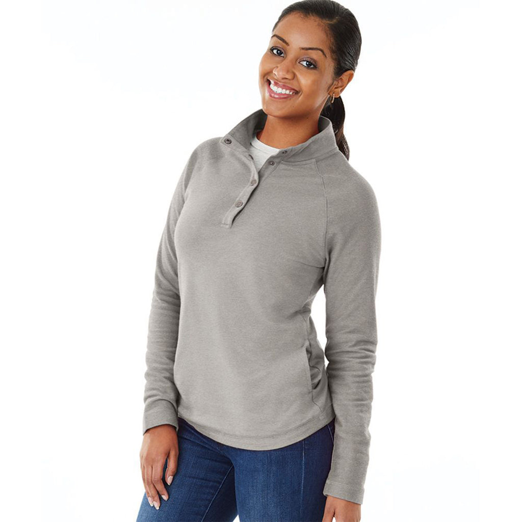 Charles River Women's Heather Grey Falmouth Pullover