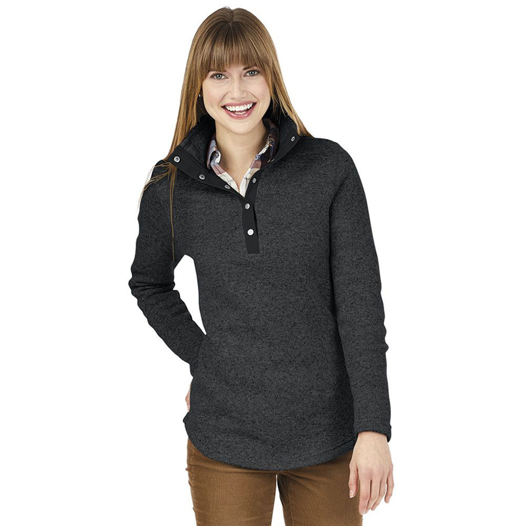 Charles River Women's Black Heather Hingham Tunic