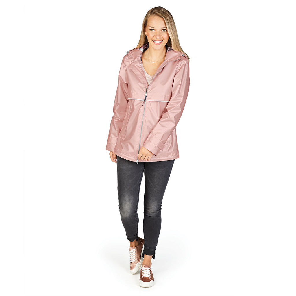 Charles River Women S Rose Gold Plaid New Englander Rain Jacket With P