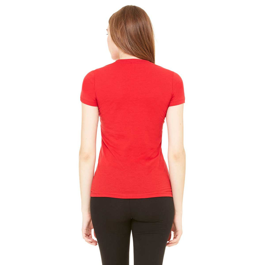 Bella + Canvas Women's Red Jersey Short-Sleeve T-Shirt