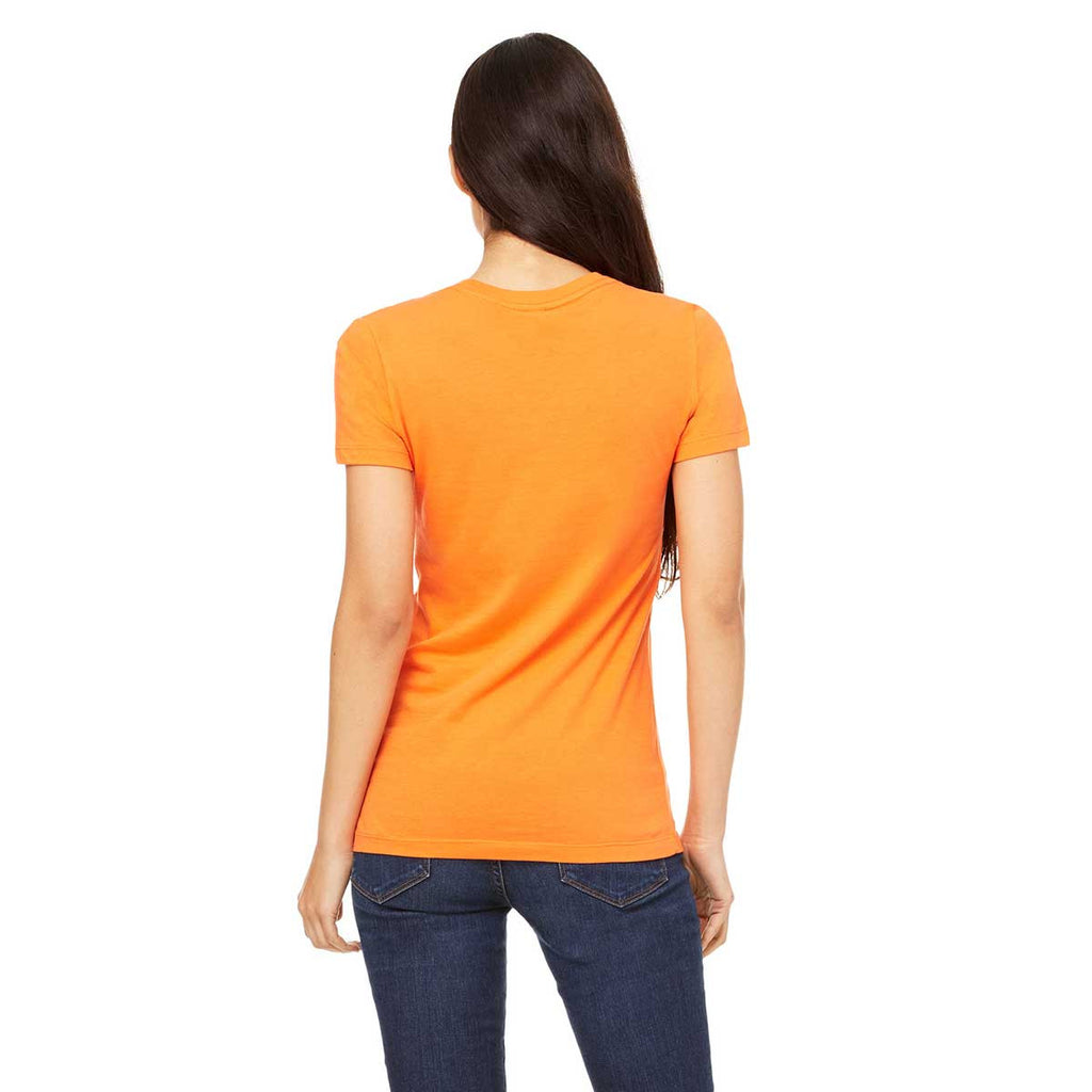 Bella + Canvas Women's Orange Jersey Short-Sleeve T-Shirt