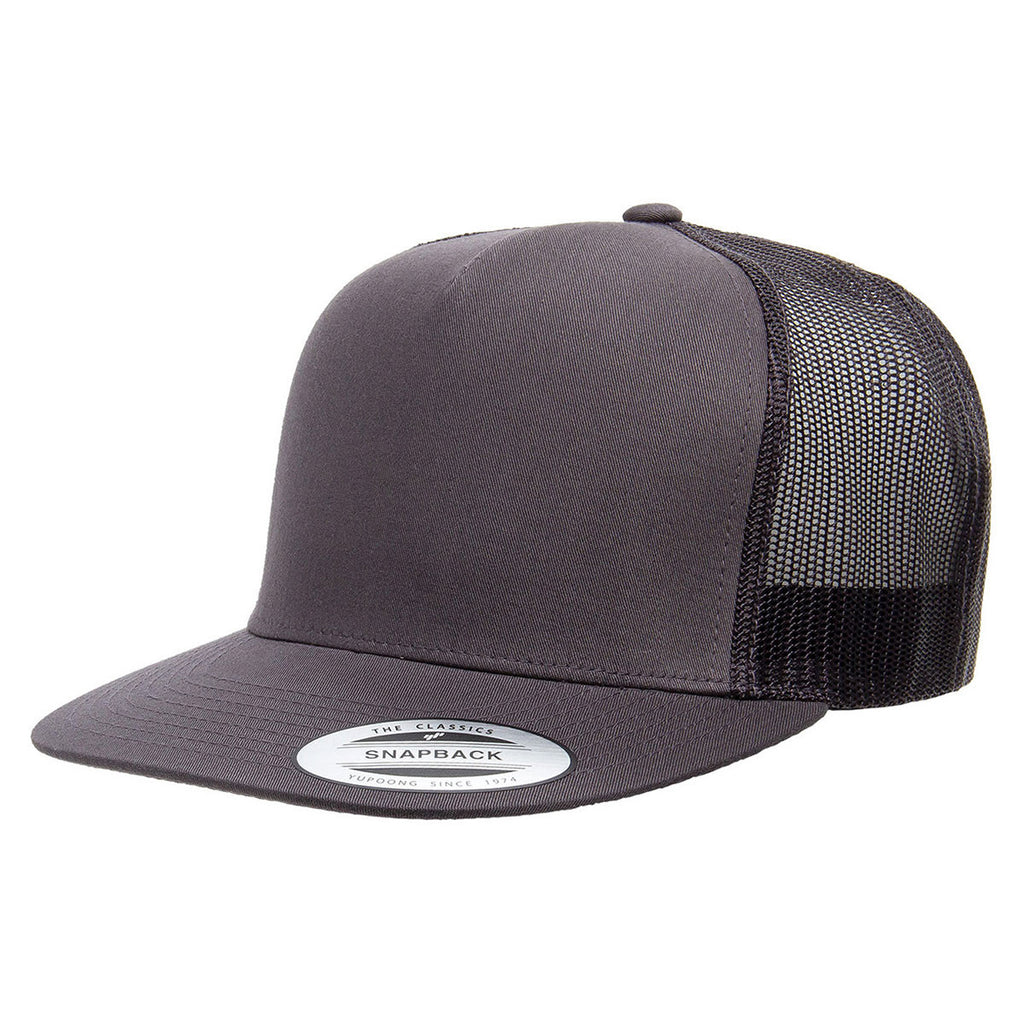 Yupoong Charcoal Adult 5-Panel Classic Trucker Cap d358e899b56