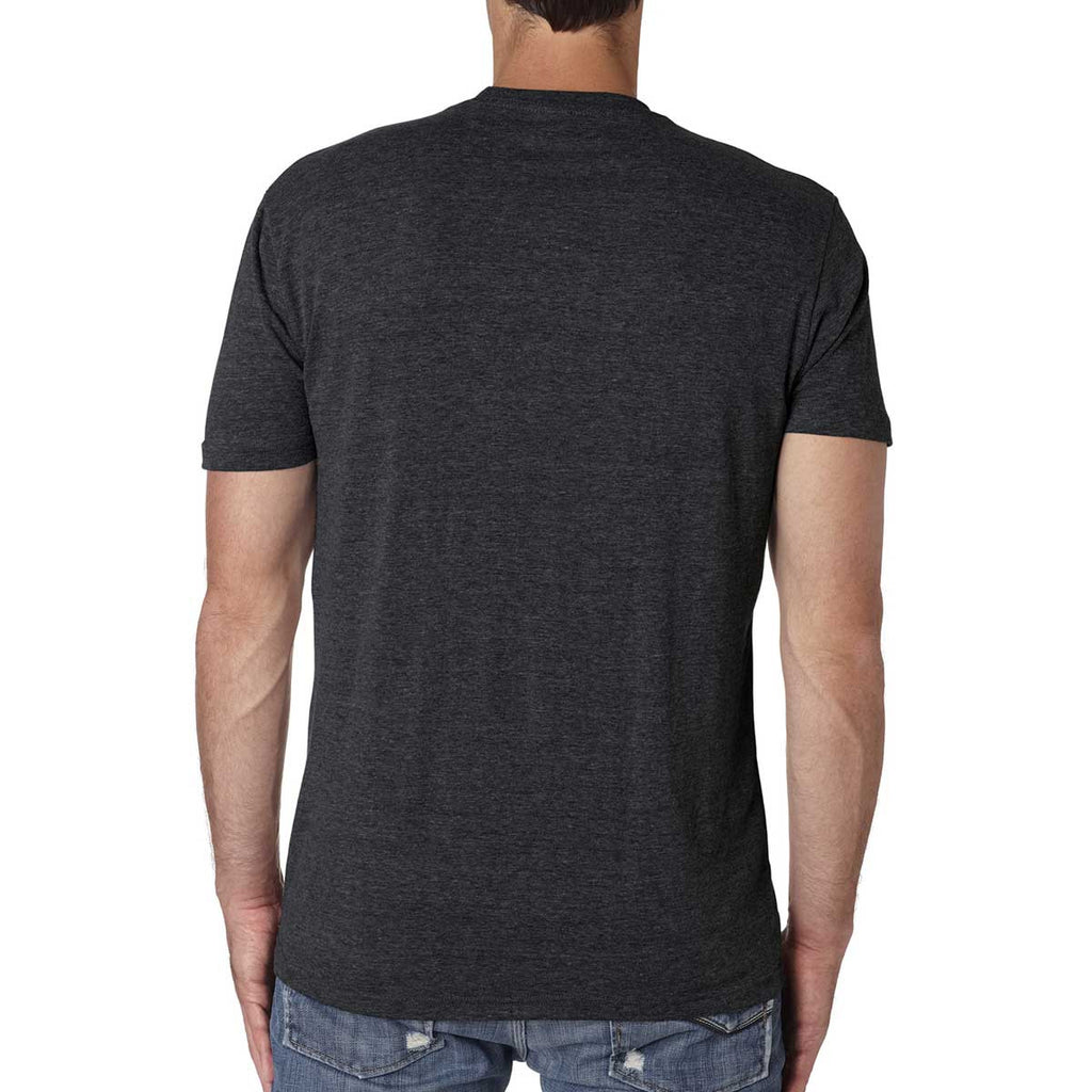 Next level men 39 s vintage black triblend crew tee Next level printed shirts