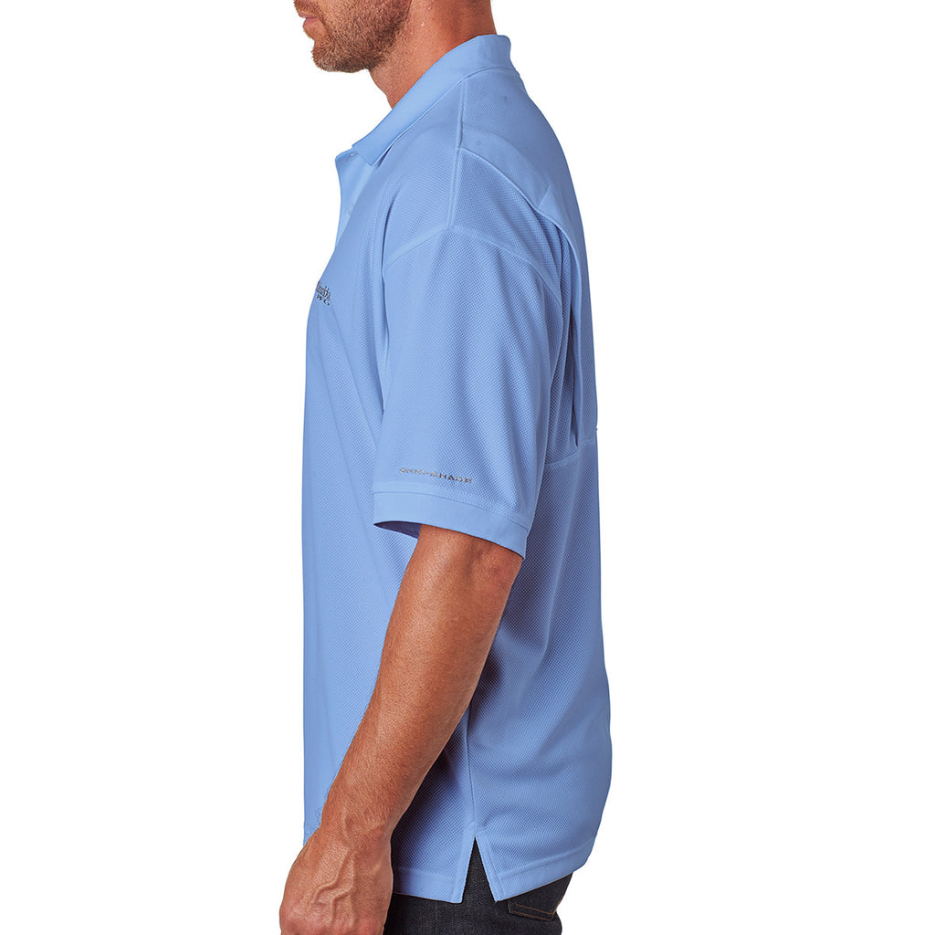 Columbia Men's White Cap Blue Perfect Cast Polo