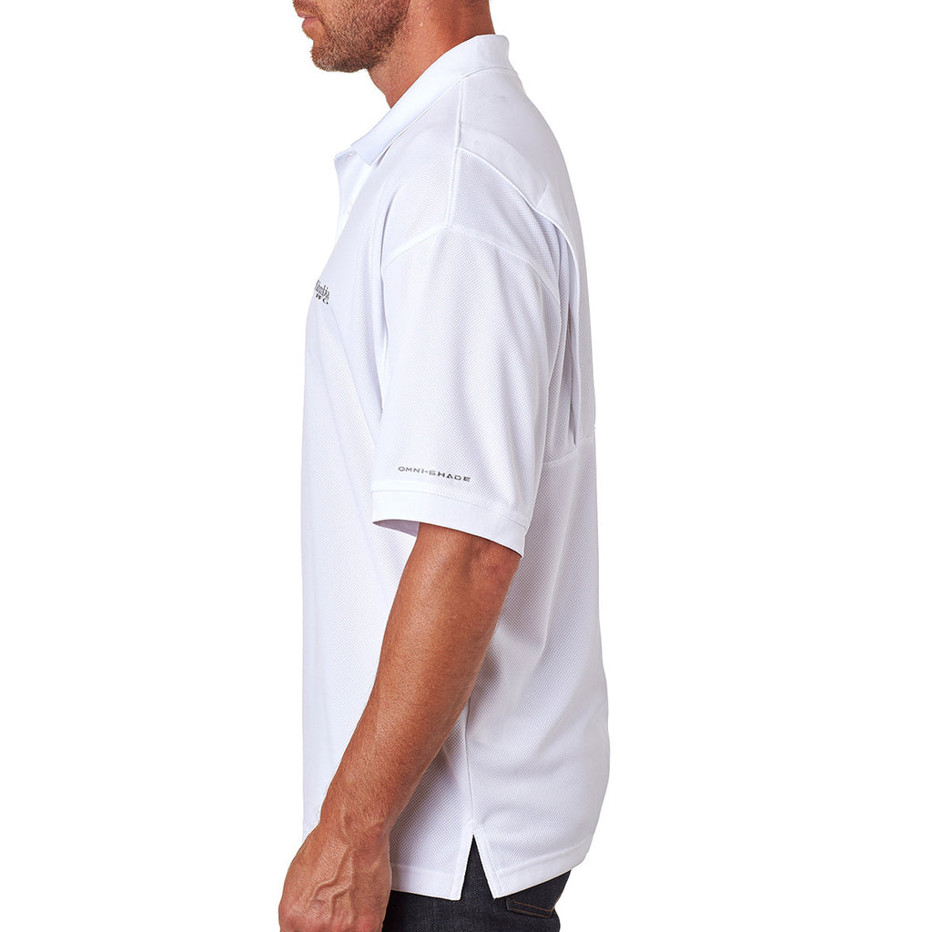 Columbia Men's White Perfect Cast Polo