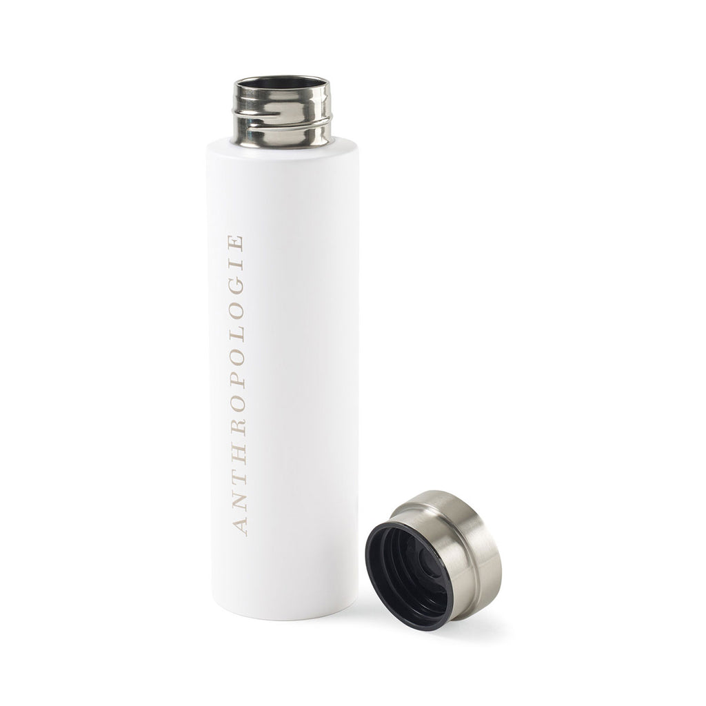 Gemline White Napa Double Wall Stainless Wine Canteen - 25oz