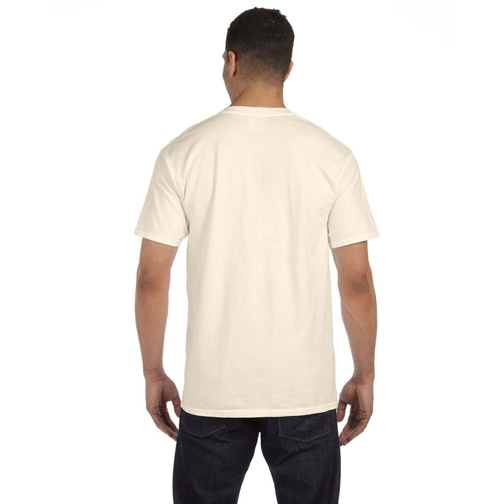 Comfort Colors Men's Ivory 6.1 oz. Pocket T-Shirt
