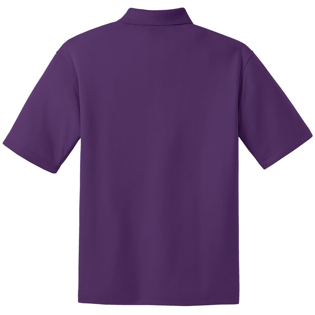 Nike Men's Tall Purple Dri-FIT Short Sleeve Micro Pique Polo